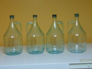4x 300 ml Italian made wine jugs