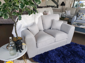 NEW Grey Rio 2 Seater Sofa DELIVERY AVAILABLE
