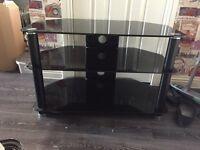Black glass tv unit fits upto 40inch