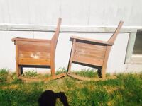 Old Antique Rocking Chair Sides