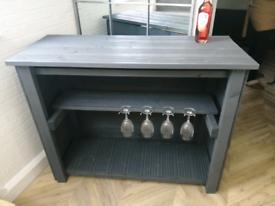 New & Unused Wooden Garden Bar / Outdoor Bar Painted Grey