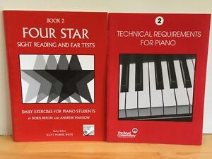 Four star book 2 sight reading/ear tests, Technical requirements
