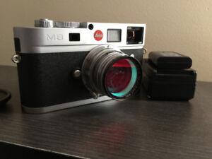 Leica m8 chrome digital ranger finder camera