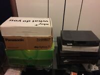 4 sky+ boxes & other sat receivers & hi8 to vhs recorder