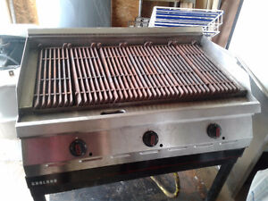 Natural gas garland charbroil grill
