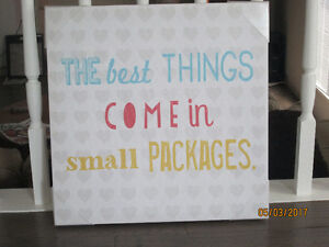 """""""The best things come in small packages"""" Canvas"""