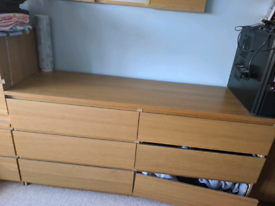 IKEA malm double chest of drawers