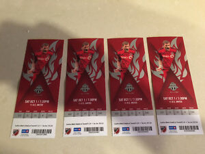 Toronto FC tickets for October 1st vs DC United