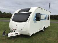 (17) SWIFT S LINE TD, 4 BERTH, FIXED BED, SINGLE AXLE, TOURING CARAVAN