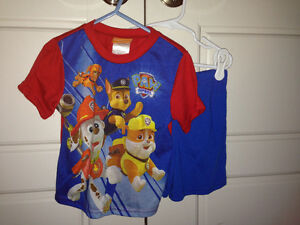 Boys 3T summer pajamas (Paw Patrol & Carters) $2