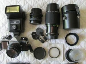 Pentax Camera, lens and accessories