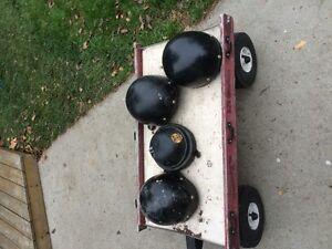 4 Motorcycle helmets - $10.00 each