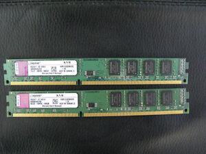 Kingston 4G (2 x 2G) DDR3 1333 PC3-10600 Desktop Ram