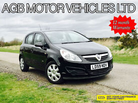 LATE 2009 VAUXHALL CORSA 1.4 AUTOMATIC 1390cc AUTO PETROL 5DR - LOW MILES