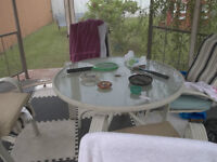 lawn furniture table and four chairs