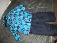 3T Girls Navy Flower Snowsuit