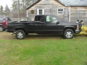 1997Silverado 1500 Xtended cab with Plow
