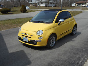 2012 Fiat 500c Convertible Coupe - Under 10,000 kms!!
