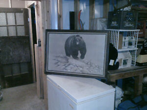 M.G. Loates grizzley bear framed print