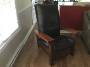 Chaise inclinable / Recliner chair - antique William Morris