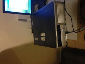 In a good working condition HP desktop and Monitor