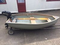 9ft dinghy tender with outboard