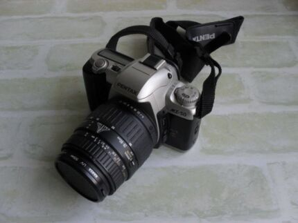 Pentax MZ-50 vintage 35mm film SLR camera.