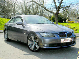 2007 07 BMW 3 SERIES 3.0 330d SE 2dr WITH SAT NAV+LEATHER+FBMWSH