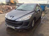 Bargain Peugeot 308 1.6 hdi full years MOT no advisories, only £30 road tax