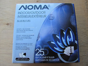 BRAND NEW  --  NOMA  C9  /  7 watt Replacement Bulbs  ( blue )