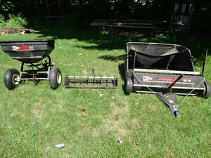 2 Agri-Fab Riding Lawn Mower Attachments (made in the USA)