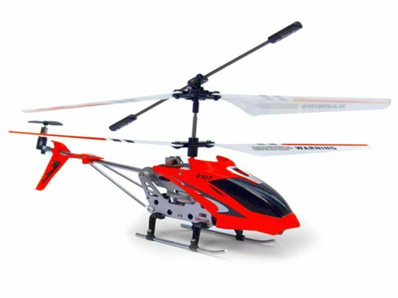 RC Heli ferngesteuerter Hubschrauber 3-Ch. GYRO SYMA S107G Rot + Akku Ladegerät