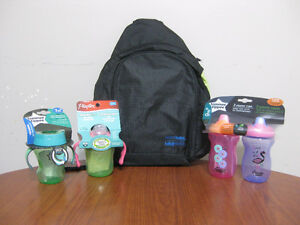 3 tommee tippee sippee cups 9m+ & 1 Playtex Soft Spout 4M+