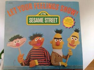Sesame Street let your feelings grow lp record