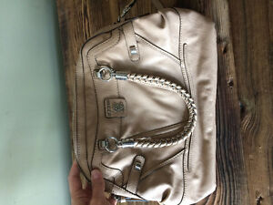 Beige Leather Guess Purse