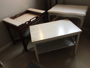 3 pieces Vintage Solid Wood Side Tables ($150 for all)