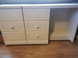 Bedside Table & Desk Set