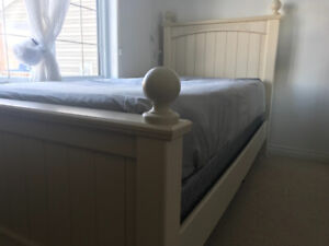 Child's bed frame & night stand
