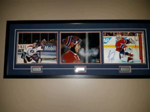 Montreal Canadiens Triple Autographed