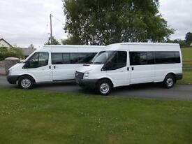 FORD TRANSIT 350 135PS LWB 9 SEAT MINIBUS 63 REG FROM 88,800 MILES CHOICE OF 2