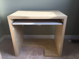 IKEA desk and filing cabinet