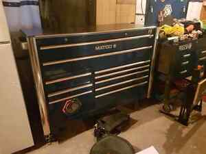 "Matco 6s series 56"" long 25"" deep 50"" high."