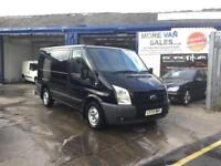 2009 1 owner black Ford Transit Trend 2.2TDCi 115PS Low Roof 280 SWB van