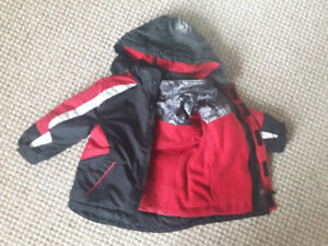 Three-in 1 - Winter/Spring Jacket/Coat - Gently use, size 2T
