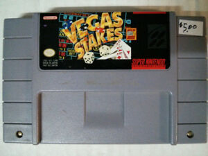 Super Nintendo SNES video gameVegas Stakes$5