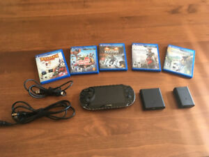 PS Vita with Three Games, Memory Card and Portable Charger
