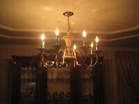 beautiful antique brass chandelier