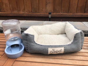 Dog bed and Self waterer