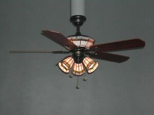 Tiffany Stained Glass Fan/light-Reduced!