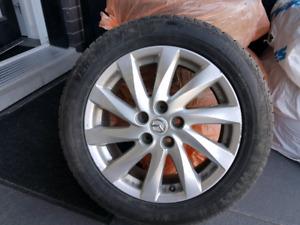"Brand New Winter Tires on 17"" Mazda Rims"